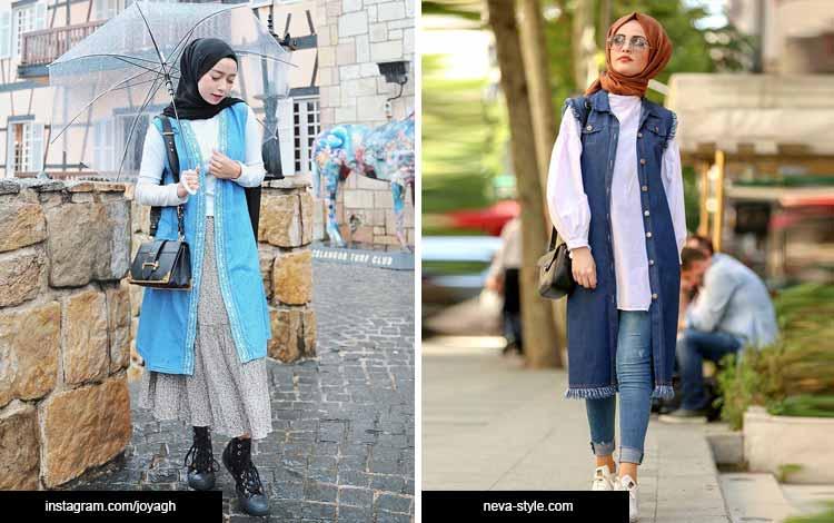 Trend hijab 2020 - denim vest