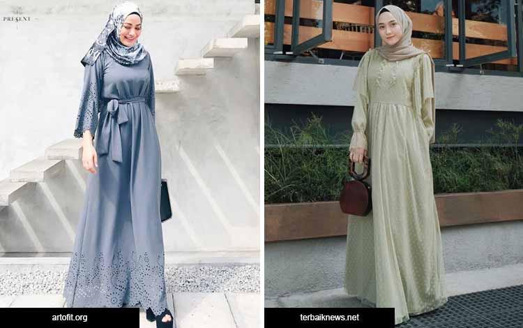 Trend hijab 2020 - gaun panjang
