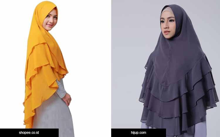 Trend hijab 2020 - khimar layer bertumpuk