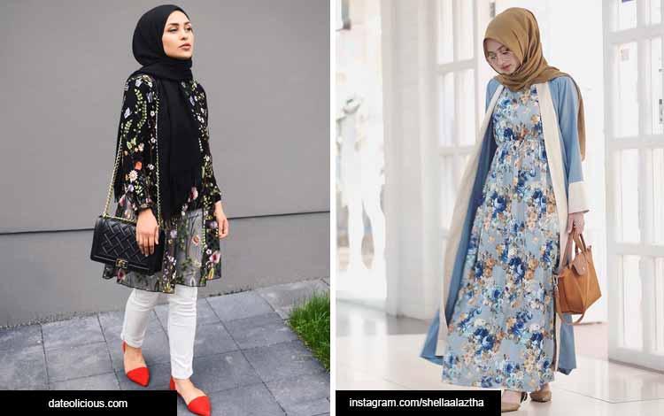Trend hijab 2020 - motif floral