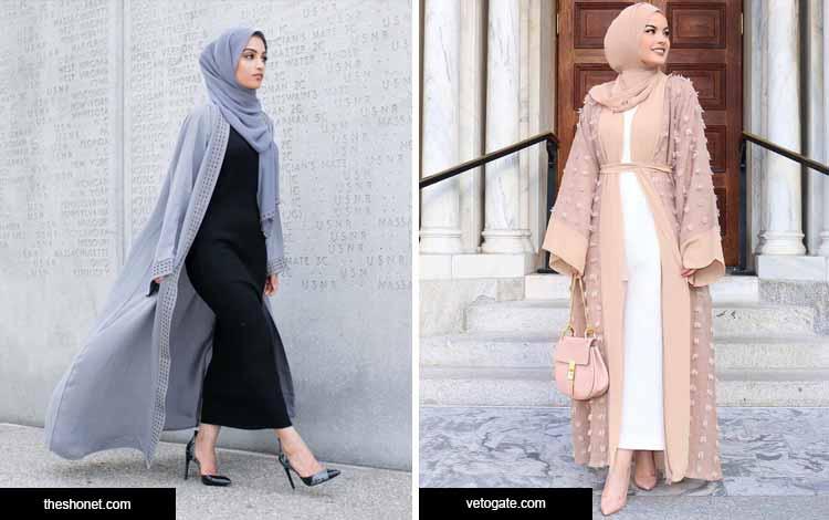 Trend hijab 2020 dengan outerwear panjang