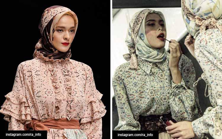 Trend hijab 2020 dengan menambahkan scarf