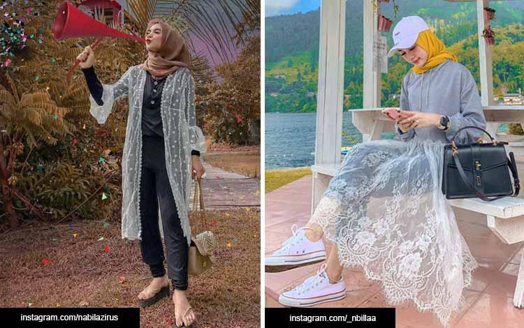 Trend hijab 2020 - Dengan sentuhan lace sheer