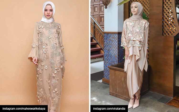 Trend hijab 2020 - warna champagne