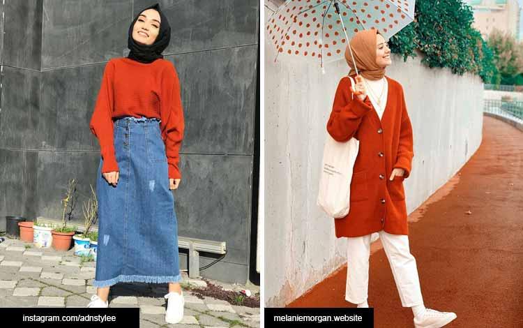 Trend hijab 2020 - warna terracota