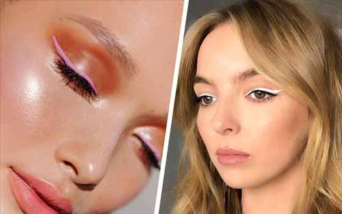 Trend-Makeup-2020-Eyeliner-berwarna-pastel-dan-putih