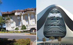 Bangunan dengan arsitektur yang unik dan mengagumkan