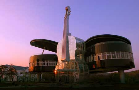 Bangunan Unik Di Dunia - The Piano House, China