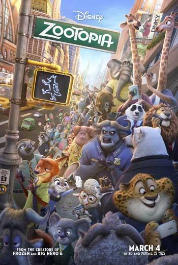 Film Animasi Terbaik Karya Disney - Zootopia (2016)