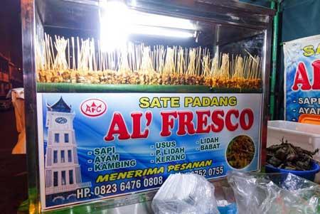 Tempat Makan Yang Enak Dan Murah Di Medan - Sate Padang AlFresco