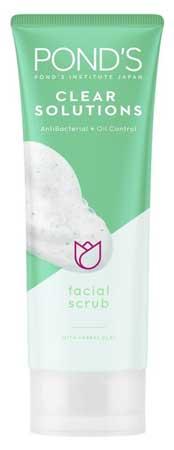 Produk Kosmetik Pond's Lengkap Dengan Harga - Pond's Clear Solutions AntiBacterial + Oil Control Facial Scrub