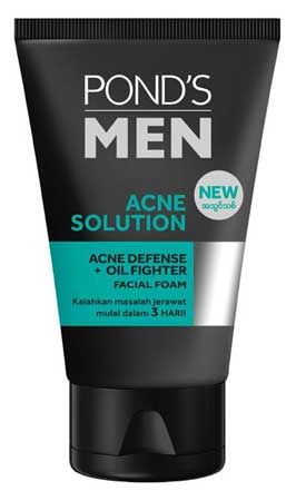 Produk Kosmetik Pond's Lengkap Dengan Harga - Pond's Men Acne Solution AntiAcne Facial Foam