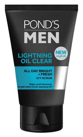 Produk Kosmetik Pond's Lengkap Dengan Harga - Pond's Men Lightening Oil Clear Facial Scrub