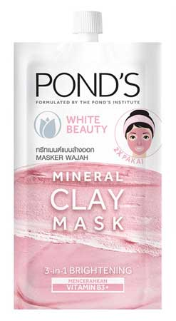 Produk Kosmetik Pond's Lengkap Dengan Harga - Pond's White Beauty Clay Mask