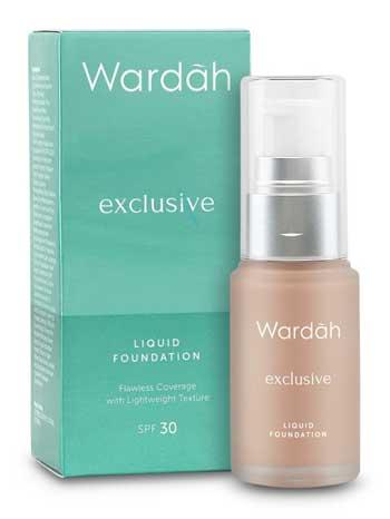 Produk Kosmetik Wardah Lengkap Dengan Harganya - Exclusive Liquid Foundation