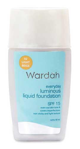 Produk Kosmetik Wardah Lengkap Dengan Harganya - Luminous Liquid Foundation