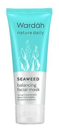 Produk Kosmetik Wardah Lengkap Dengan Harganya - Nature Daily Seaweed Balancing Facial Mask