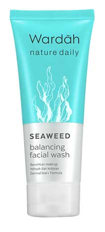 Produk Kosmetik Wardah Lengkap Dengan Harganya - Nature Daily Seaweed Balancing Facial Wash