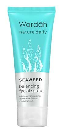 Produk Kosmetik Wardah Lengkap Dengan Harganya - Nature Daily Seaweed balancing Facial Scrub