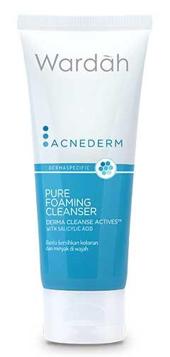 Produk Kosmetik Wardah Lengkap Dengan Harganya - Wardah Acnederm Pure Foaming Cleanser