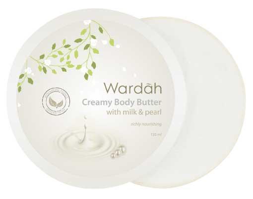 Produk Kosmetik Wardah Lengkap Dengan Harganya - Wardah Creamy Body Butter Milk & Pearl
