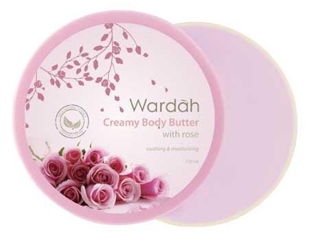 Produk Kosmetik Wardah Lengkap Dengan Harganya - Wardah Creamy Body Butter Rose 150ml