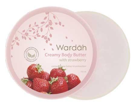Produk Kosmetik Wardah Lengkap Dengan Harganya - Wardah Creamy Body Butter Strawberry