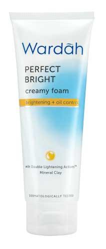 Produk Kosmetik Wardah Lengkap Dengan Harganya - Wardah Perfect Bright Creamy Foam Brightening Oil Control