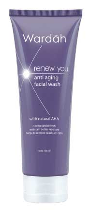 Produk Kosmetik Wardah Lengkap Dengan Harganya - Wardah Renew You Anti Aging Facial Wash