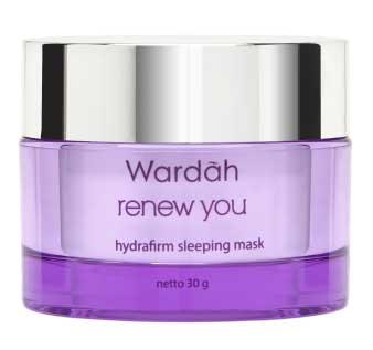 Produk Kosmetik Wardah Lengkap Dengan Harganya - Wardah Renew You Anti Aging Hydrafirm Sleeping Mask