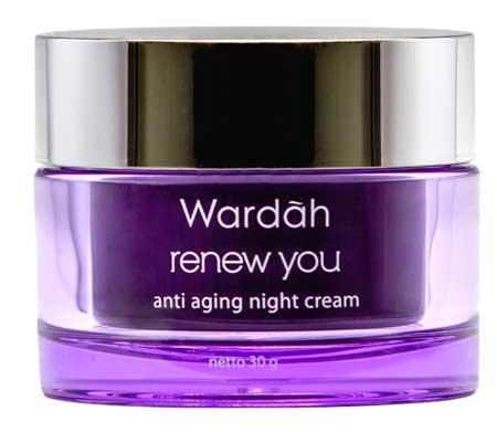 Produk Kosmetik Wardah Lengkap Dengan Harganya - Wardah Renew You Anti Aging Night Cream
