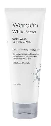Produk Kosmetik Wardah Lengkap Dengan Harganya - Wardah White Secret Facial Wash with AHA