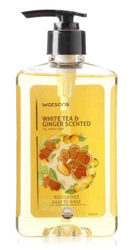 Sabun Cuci Tangan Yang Bagus - Watson White Tea & Ginger Scented Gel Hand Soap