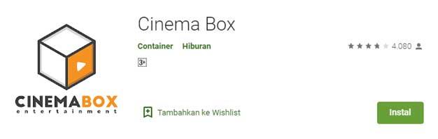 Aplikasi Streaming Film Terbaik Buat Nonton Film Online - Cinema Box