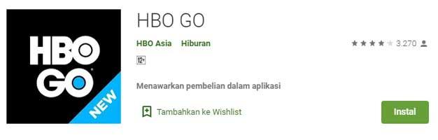 Aplikasi Streaming Film Terbaik Buat Nonton Film Online - HBO GO