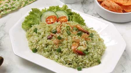 Jenis Nasi Goreng Yang Ada di Indonesia - Nasi Goreng Ijo