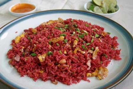 Jenis Nasi Goreng Yang Ada di Indonesia - Nasi Goreng Merah Palembang