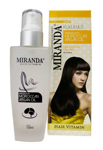 Vitamin Rambut Rontok - Miranda Hair Vitamin Bottle Kukui Nut