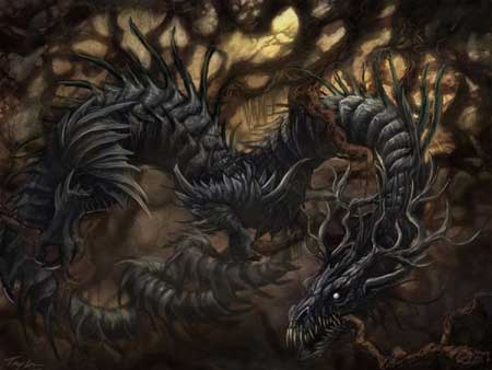 Berbagai Bentuk Naga Berdasarkan Mitos Yang Ada Di Dunia - Níðhöggr