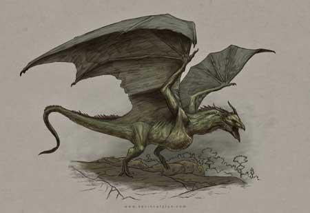 Berbagai Bentuk Naga Berdasarkan Mitos Yang Ada Di Dunia - Wyvern