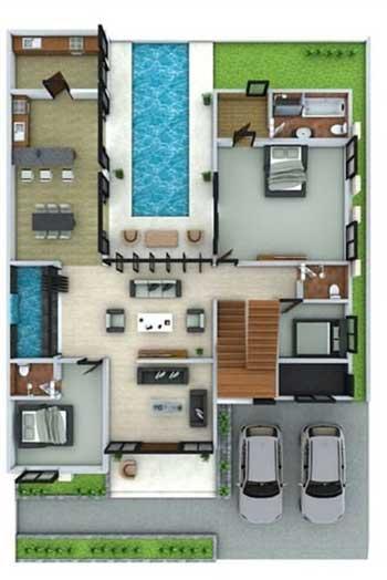 Desain Rumah Minimalis 3 Kamar - Rumah 10