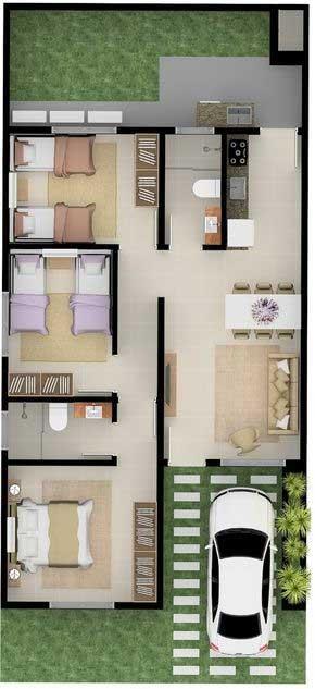 Desain Rumah Minimalis 3 Kamar - Rumah 15