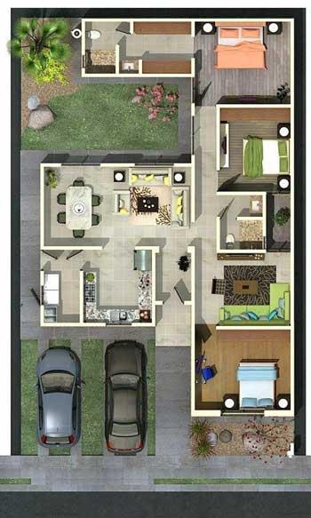 Desain Rumah Minimalis 3 Kamar - Rumah 3