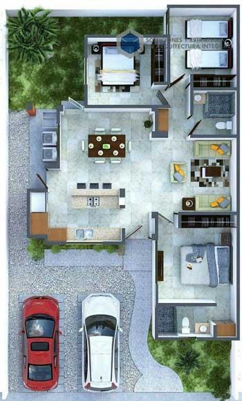 Desain Rumah Minimalis 3 Kamar - Rumah 4
