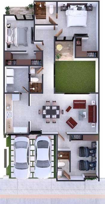 Desain Rumah Minimalis 3 Kamar - Rumah 6