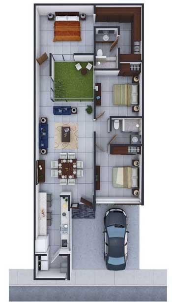 Desain Rumah Minimalis 3 Kamar - Rumah 9