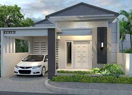 Desain Rumah Minimalis Modern Terbaru 2020 - Desain Rumah Lantai 1 c