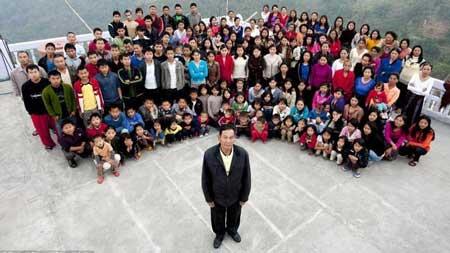 Keluarga Dengan Jumlah Anak Terbanyak Di Dunia - Ziona Chana