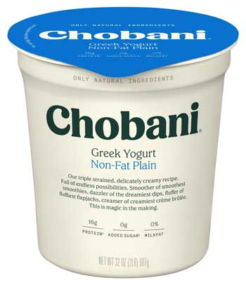 Merk Yougurt Terbaik - Chobani Non-Fat Plain Greek Yogurt