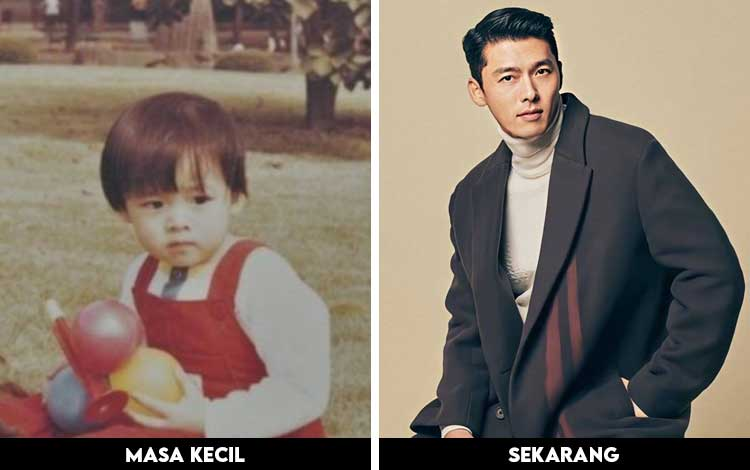 Foto Artis Korea Ketika Masih Kecil Dan Sekarang - Hyun Bin